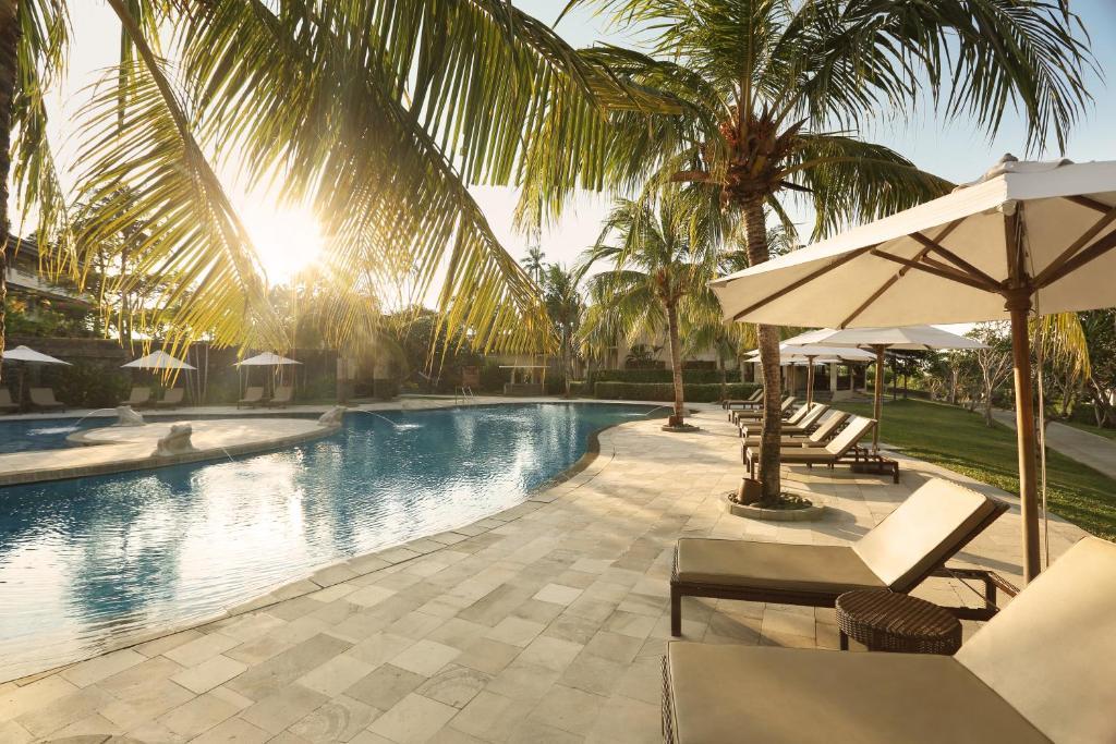 The swimming pool at or close to Grand Luley Manado