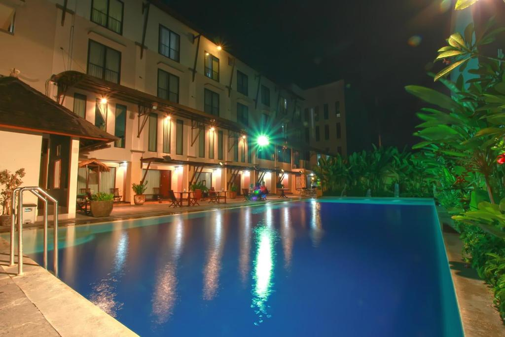 The swimming pool at or close to The Grand Santhi Hotel