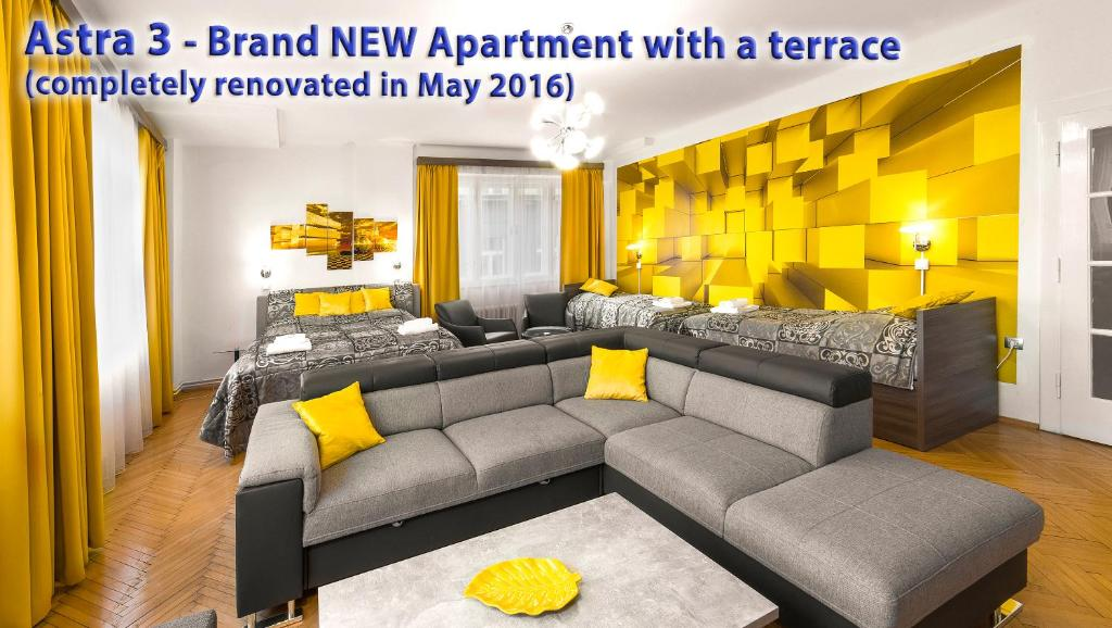 A seating area at Astra 3 - Large Apartment with Terrace