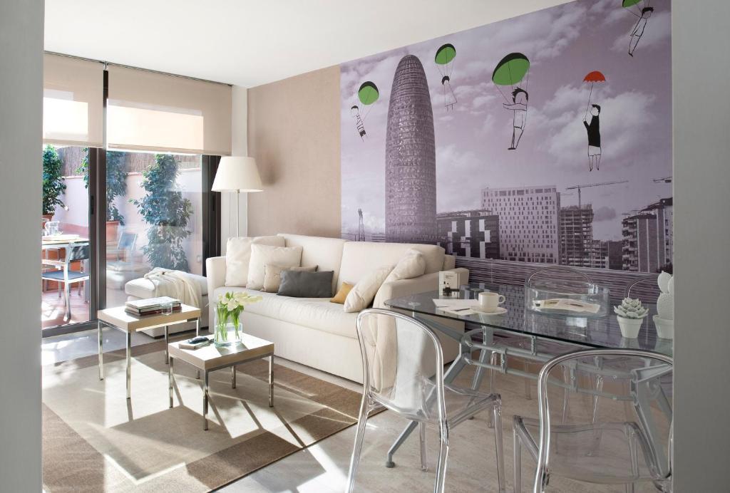 A seating area at Eric Vökel Boutique Apartments - Sagrada Familia Suites