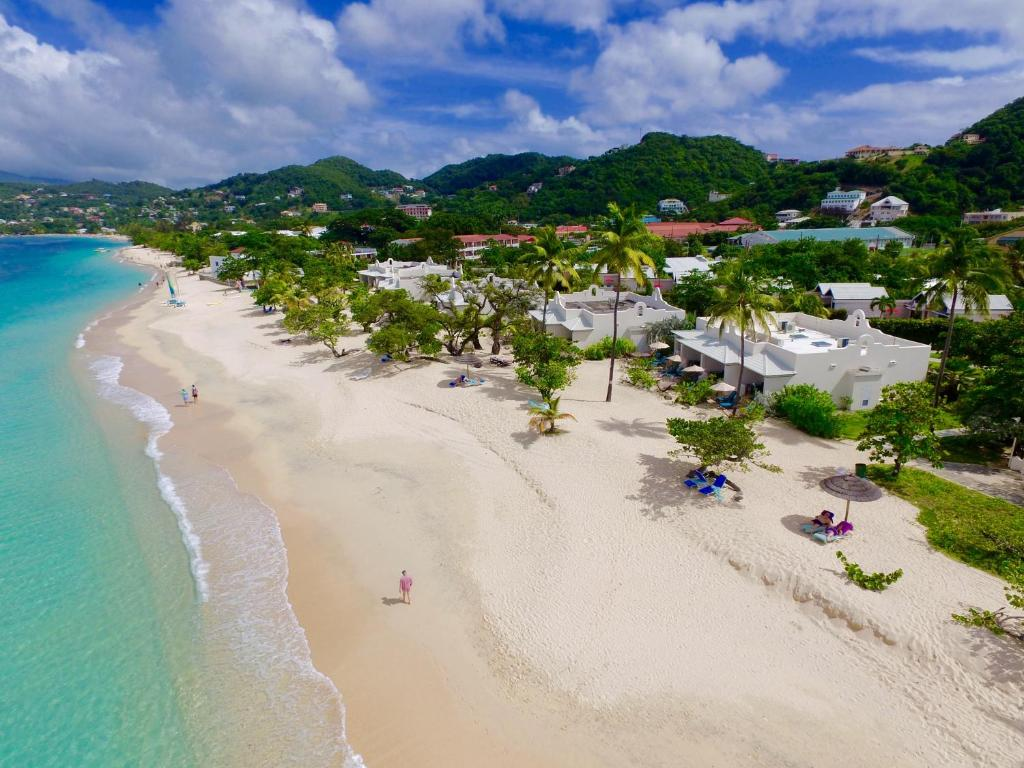 A bird's-eye view of Spice Island Beach Resort