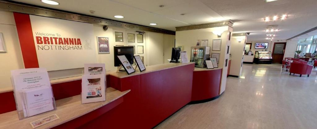 The lobby or reception area at The Britannia Nottingham Hotel