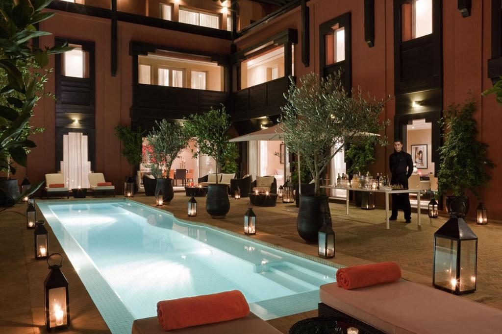 The swimming pool at or near Riad Lavande