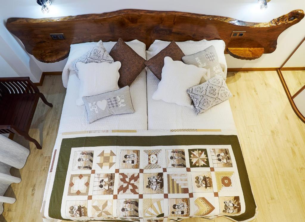 Cama o camas de una habitación en Casa Rural Arriagaetxea