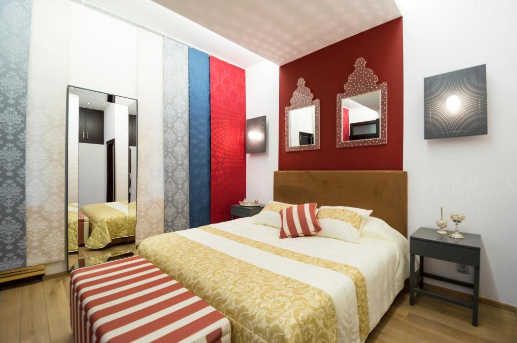A bed or beds in a room at Exclusive gem in the heart of Prague
