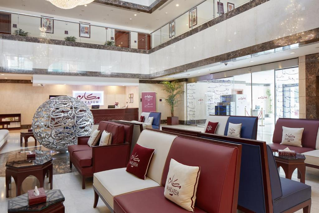 منطقة الاستقبال أو اللوبي في فندق مكارم البيت العزيزية