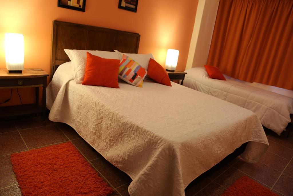 Cama o camas de una habitación en Hotel Bulevar