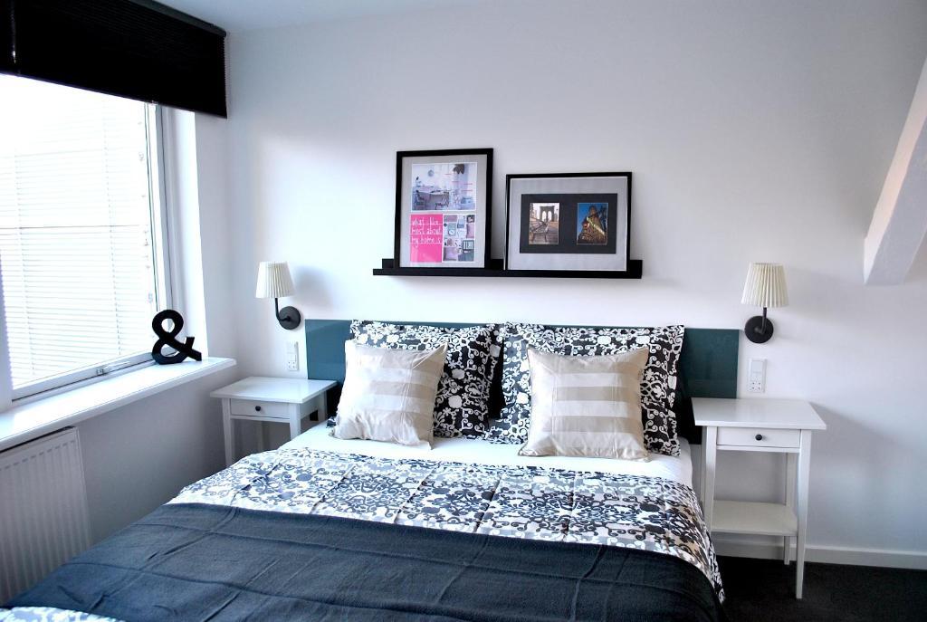 Een bed of bedden in een kamer bij M18