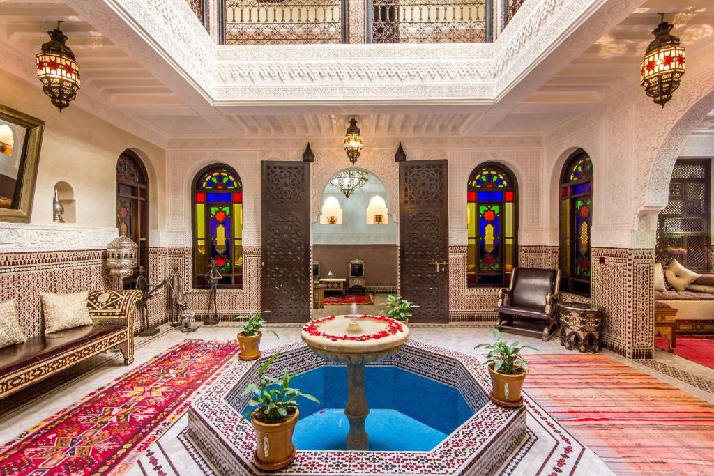 The swimming pool at or near Riad Lamya Marrakech