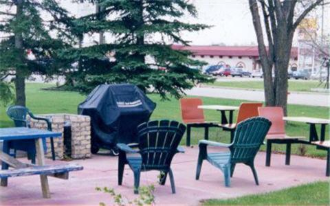 A patio or other outdoor area at Carravalla Inn