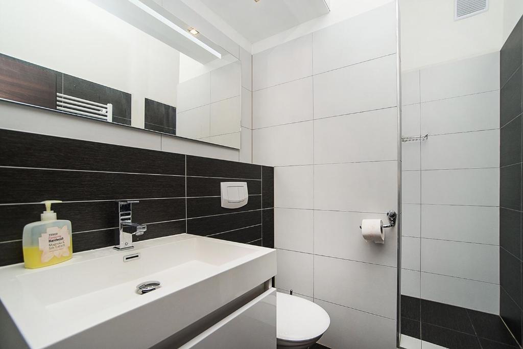 Łazienka w obiekcie Apartmany Zlata Vyhlidka