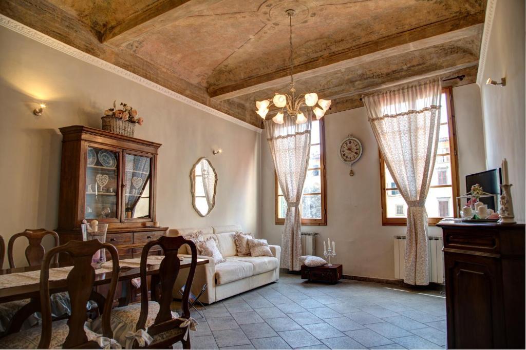 A seating area at Casa Laura&Duccio