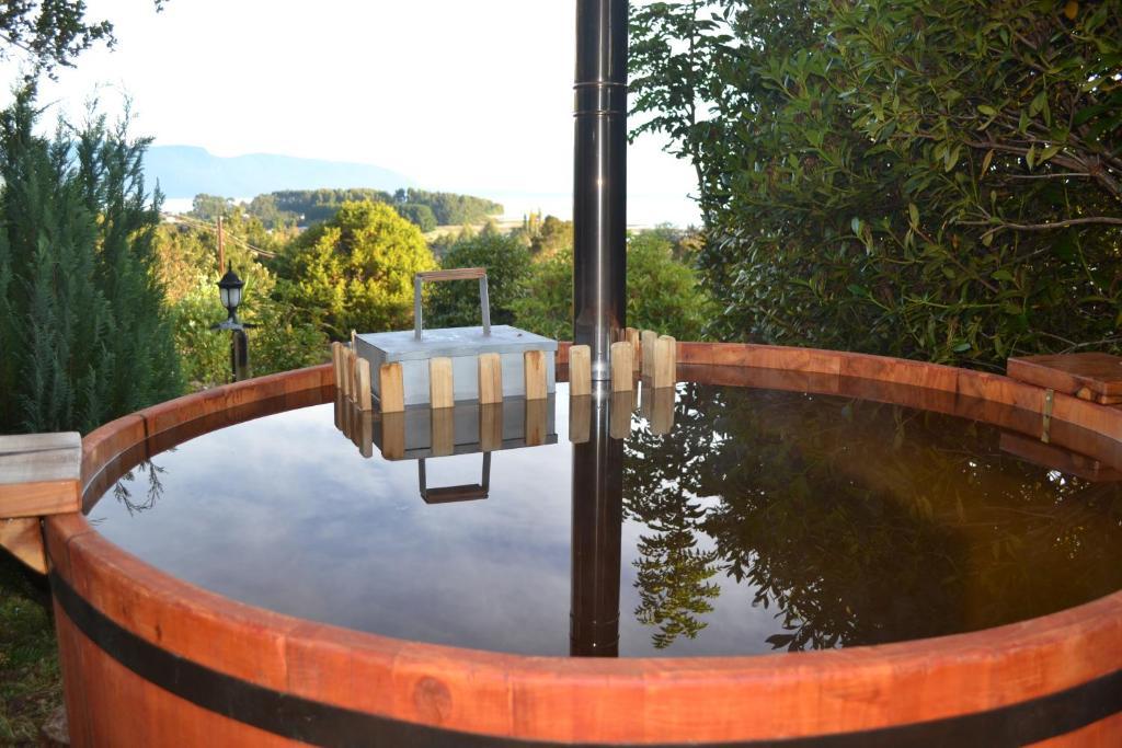 The swimming pool at or near Cabañas Lenca Carretera Austral