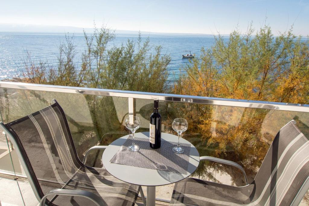 A balcony or terrace at Apartments Zanic on The Beach