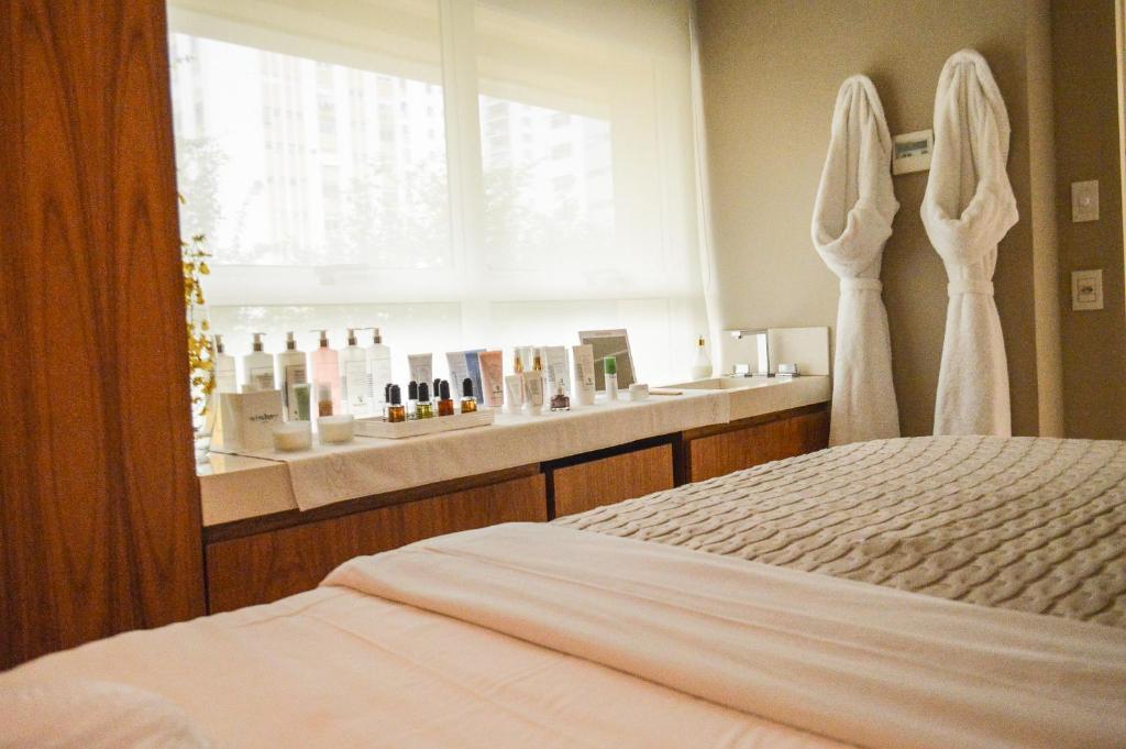 Cama o camas de una habitación en Hotel Emiliano