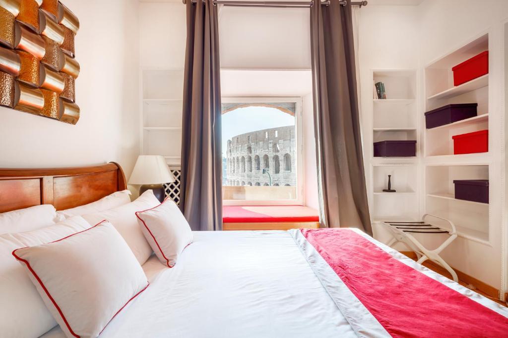 Cama o camas de una habitación en N°9 Colosseo