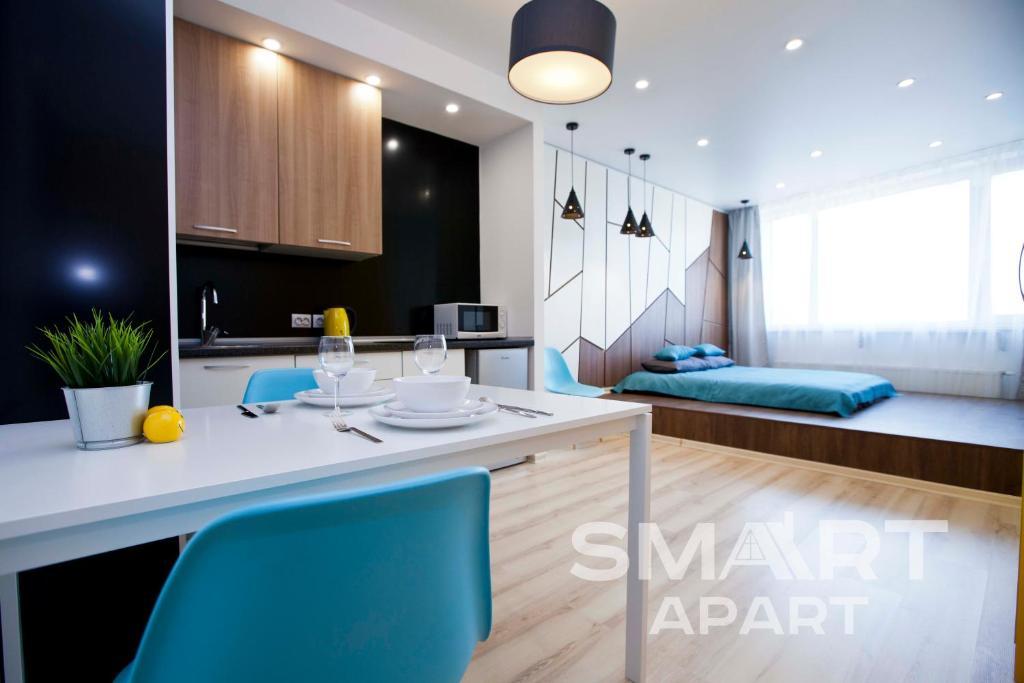 A bathroom at Smart Apart at Artek