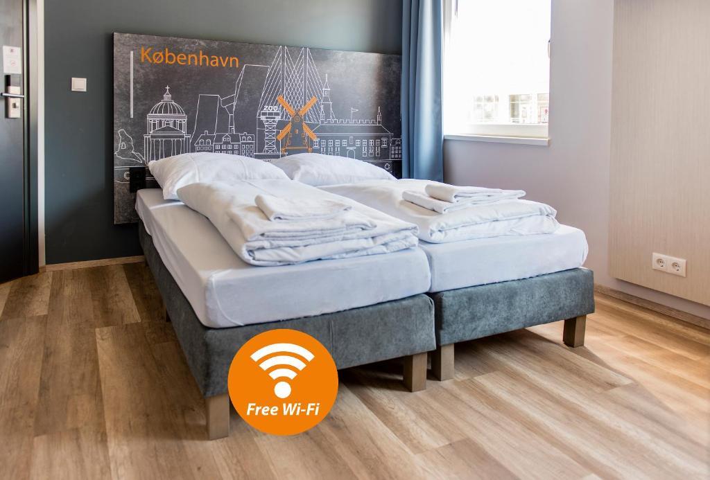 Un ou plusieurs lits dans un hébergement de l'établissement a&o Copenhagen Nørrebro