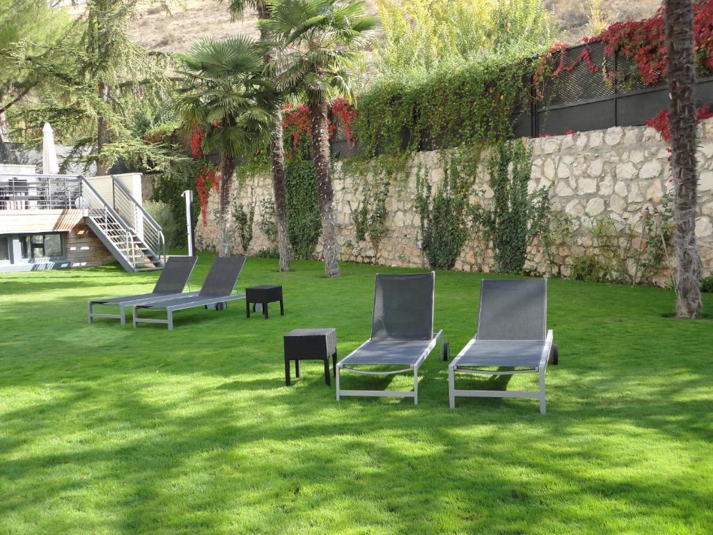 Jardín al aire libre en Hotel Spa Niwa
