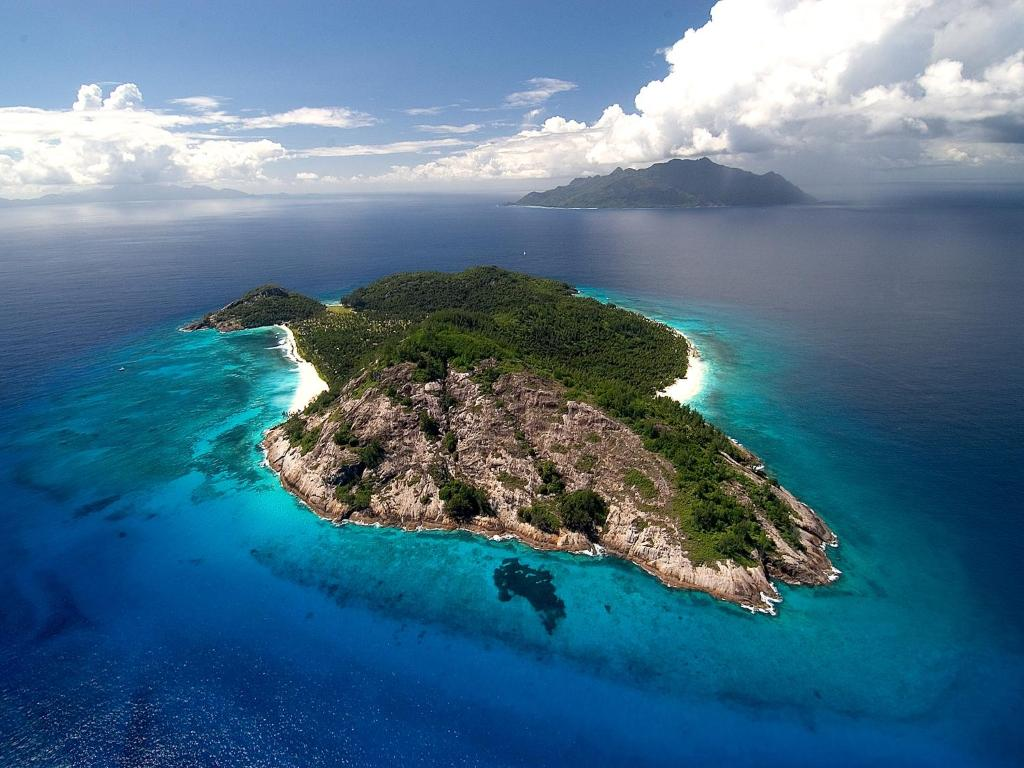 A bird's-eye view of North Island, a Luxury Collection Resort, Seychelles