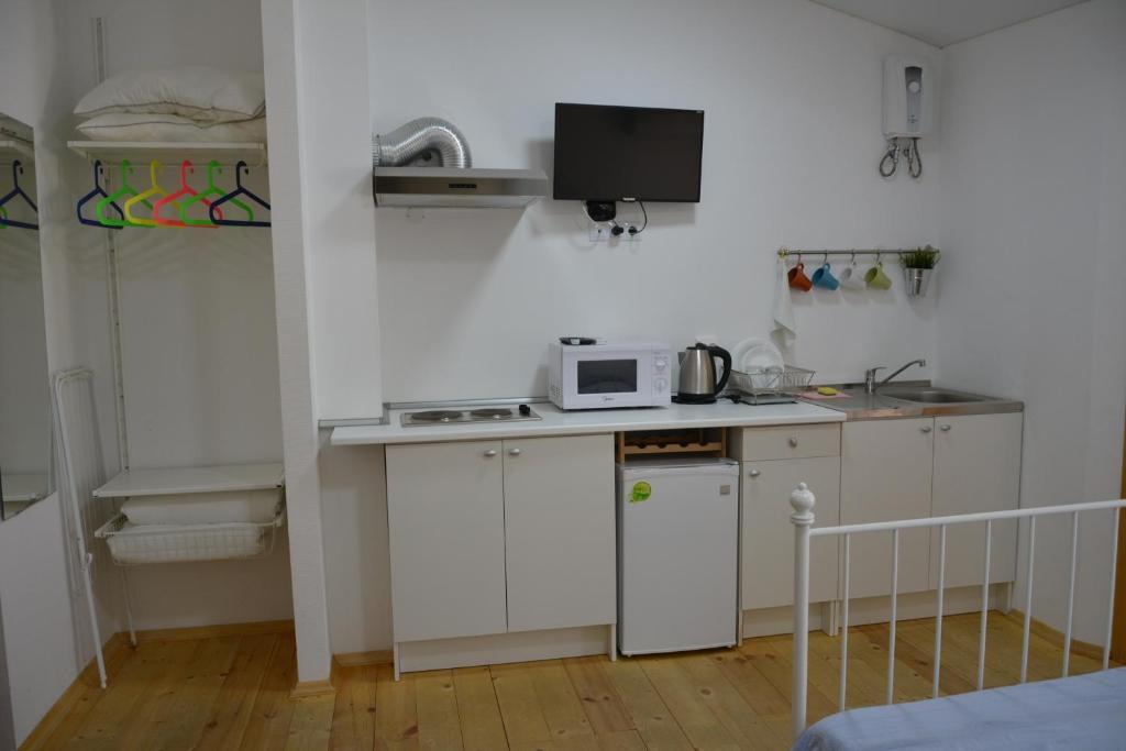 Кухня или мини-кухня в Guest House Barabulka