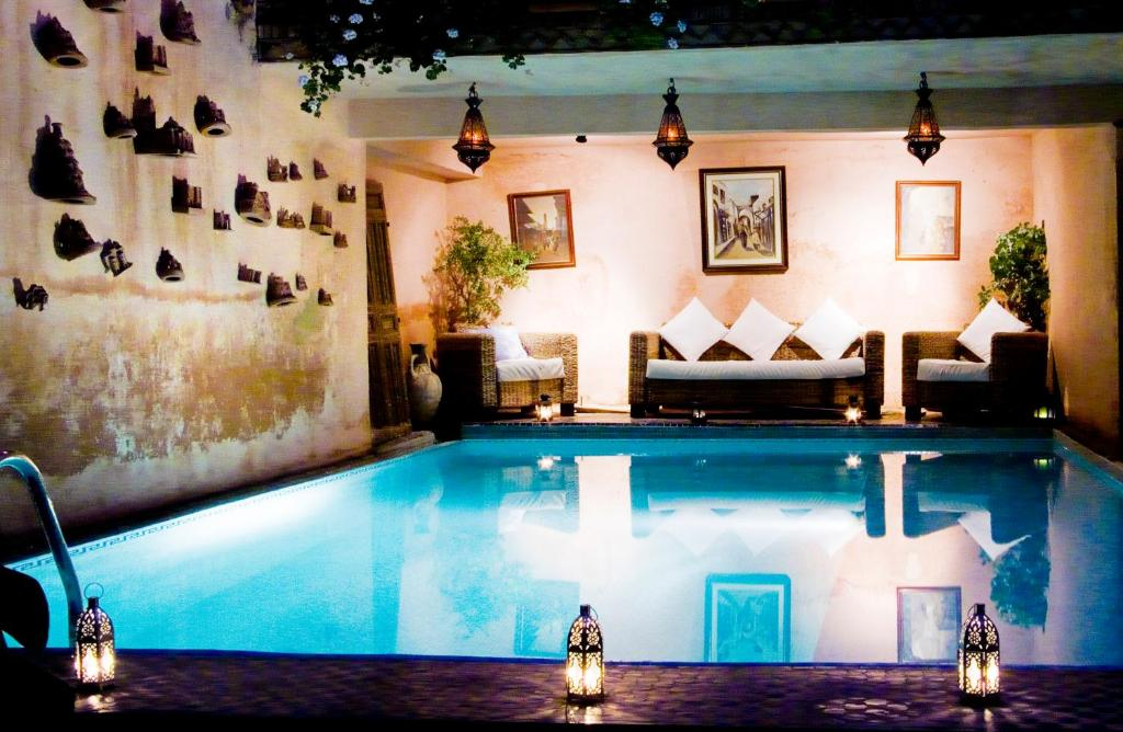 The swimming pool at or near Le Riad Meknes