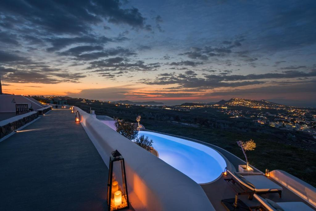 A view of the pool at Carpe Diem Santorini, Small Luxury Hotels of the World or nearby