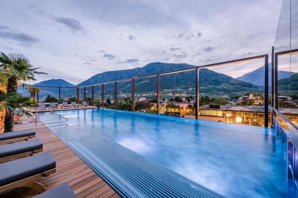 The swimming pool at or near Hotel Therme Meran - Terme Merano