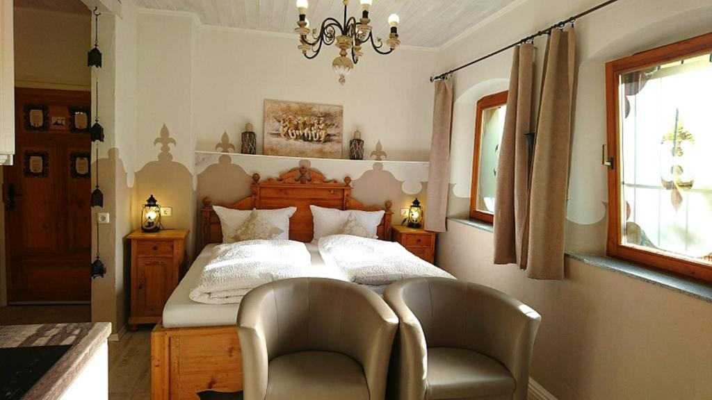 利布勒加斯特豪斯酒店房間的床