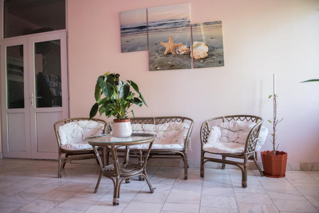 O zonă de relaxare la Hotel Dynes