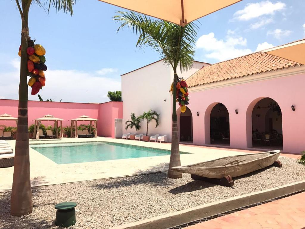 The swimming pool at or near Hotel Doña Manuela