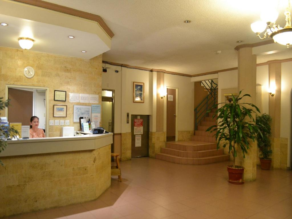 The lobby or reception area at West Plaza Malakal
