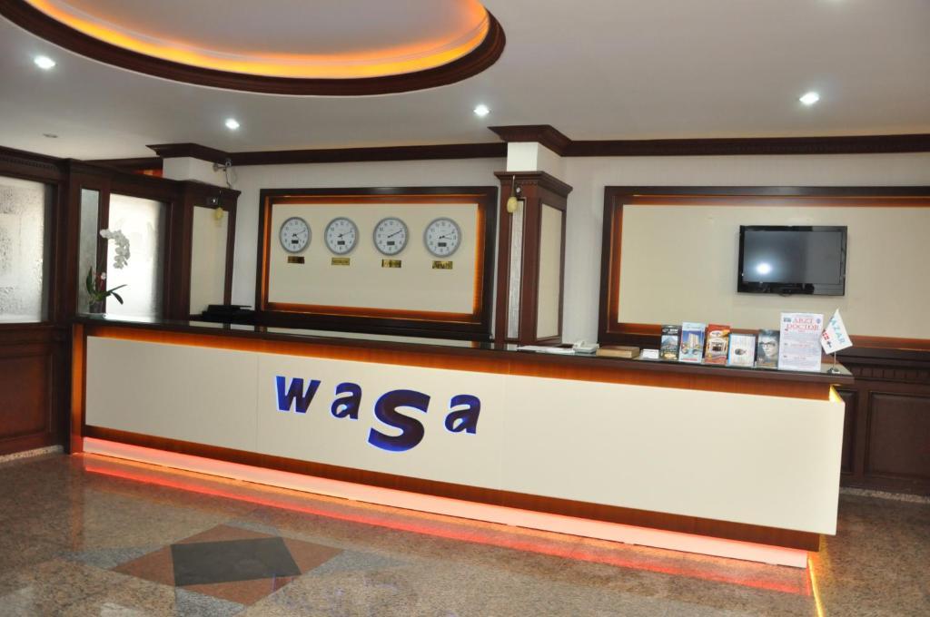 Лобби или стойка регистрации в Wasa Hotel
