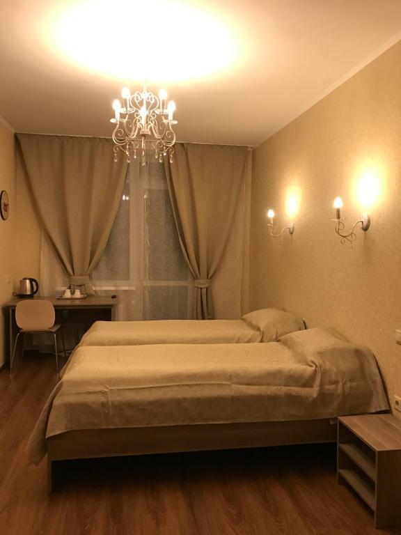 Кровать или кровати в номере Облака на Смоленке