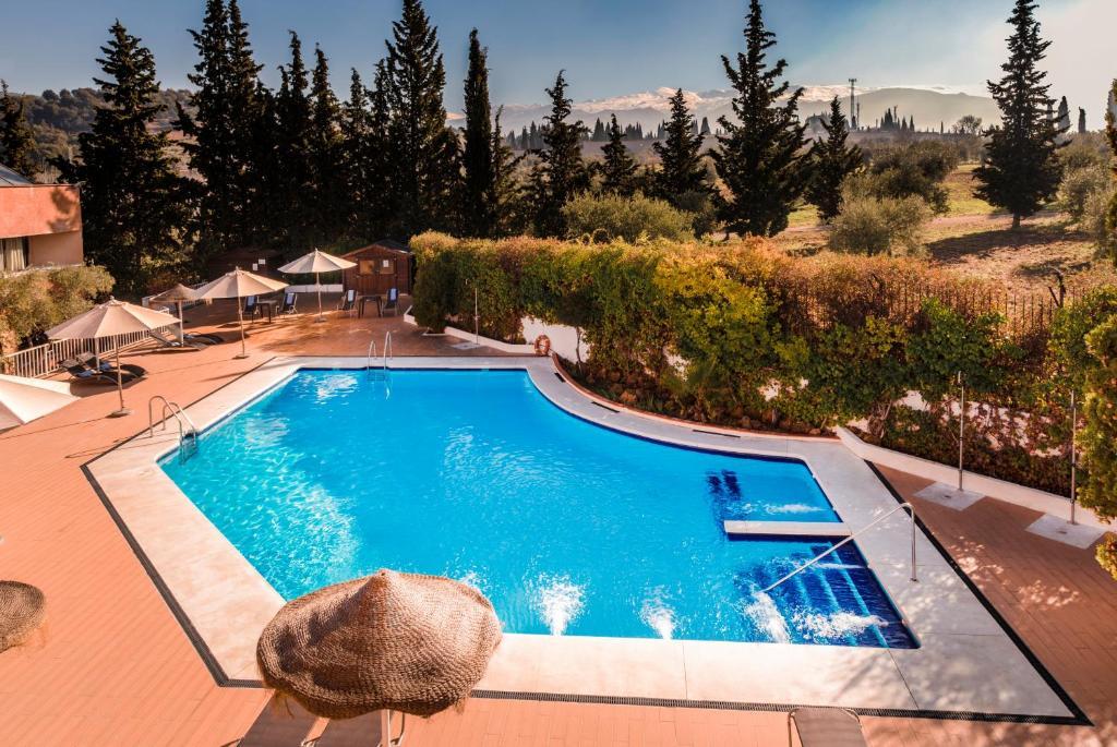 Pogled na bazen u objektu Hotel Alixares ili u blizini