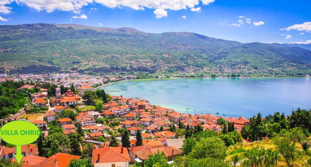 Villa Ohrid с высоты птичьего полета