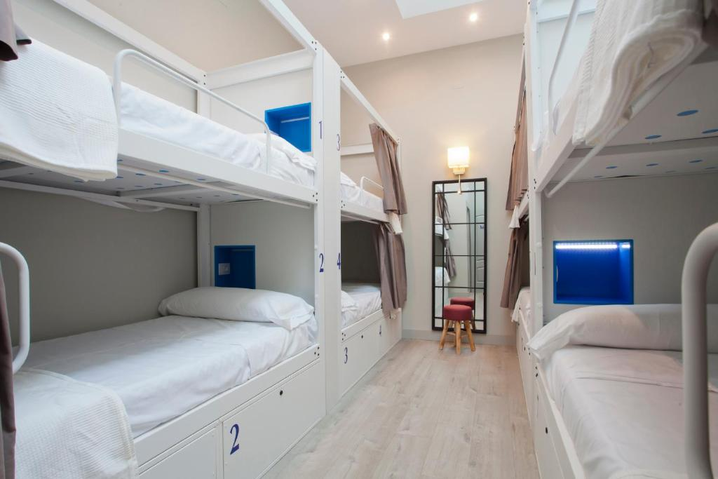 Litera o literas de una habitación en Malaga Stop Hostel AB