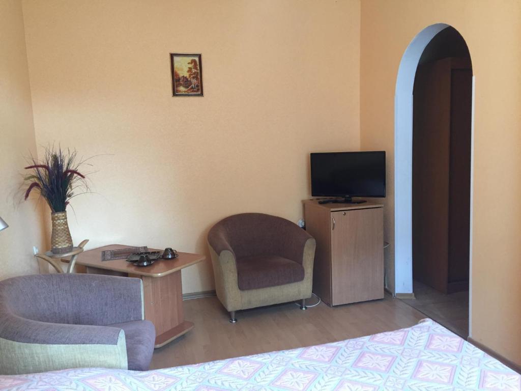 Гостиная зона в Гостевой Дом Балтийские Сосны