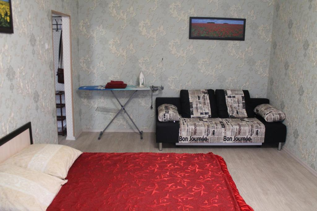 Гостиная зона в Apartment on Stroiteley