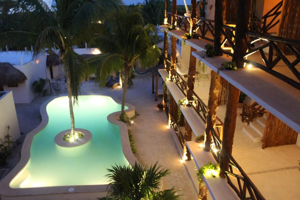 A view of the pool at Tierra Mia Boutique Hotel or nearby