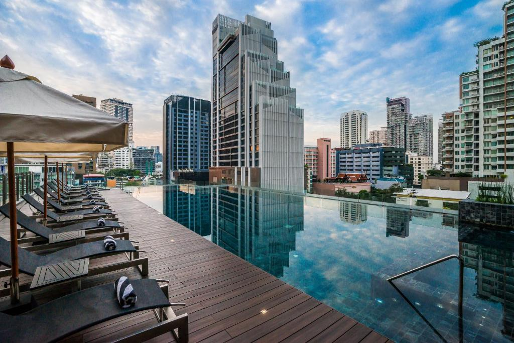 The swimming pool at or near Compass SkyView Hotel Bangkok