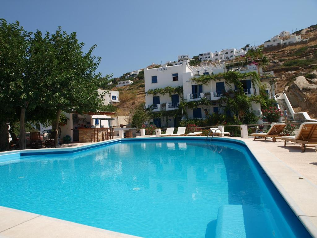 The swimming pool at or near Pension Irene