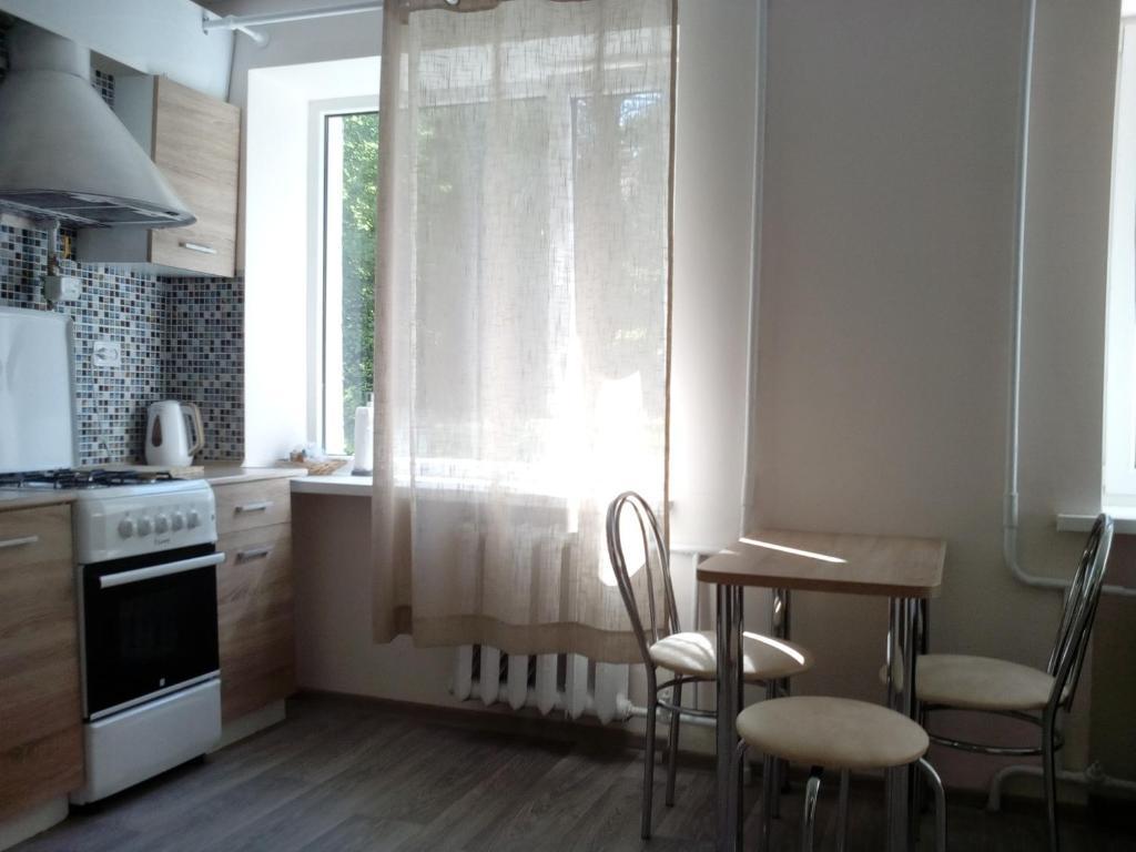 Кухня или мини-кухня в Rauschen apartments