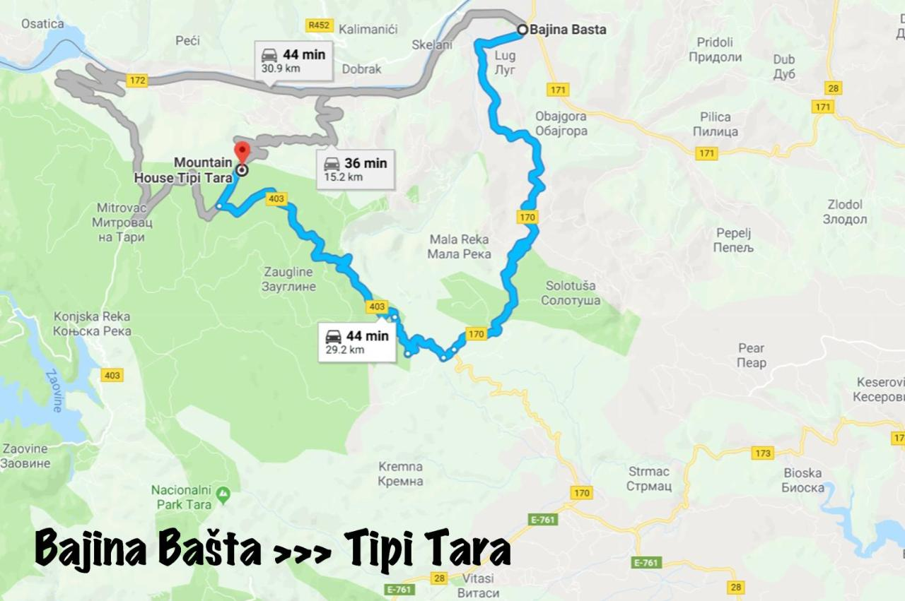 Vacation Home Mountain House Tipi Tara Bajina Basta Serbia