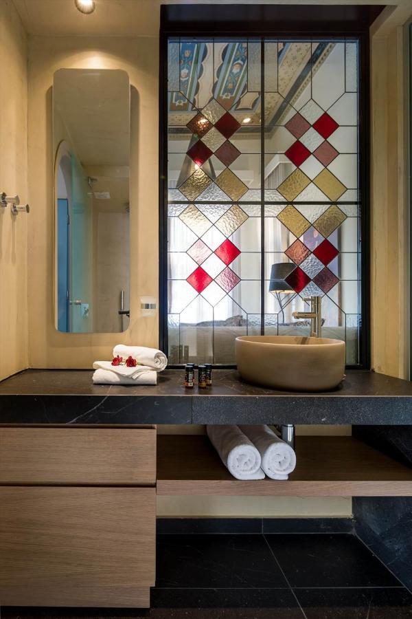 24 x 36 Kess InHouse Nika Martinez Ikat Geometrie Green Orange Luxe Rectangle Panel