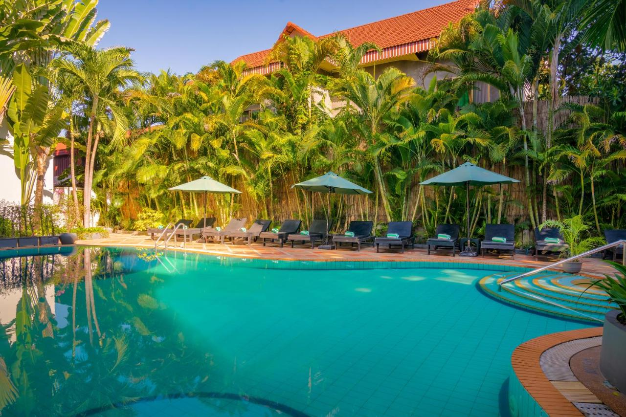 A piscina em ou perto de Silk D'angkor Boutique Hotel