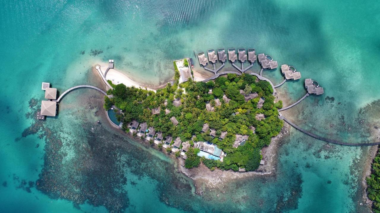 Uma vista aérea de Song Saa Private Island