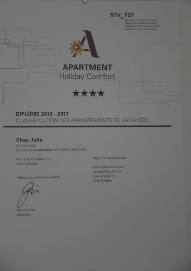 Ferienwohnung Chez Julia (Schweiz Tramelan) - Booking.com