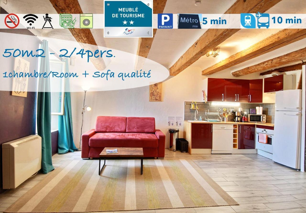 Espace Atypique Aix En Provence apartment la butte des carmes - 3mn du panier, marseille