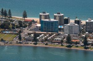 A bird's-eye view of The Pacific Apartments